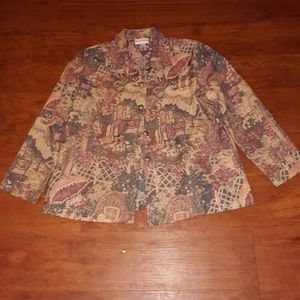 Appleseed's PETITE Size M Button Front Jacket